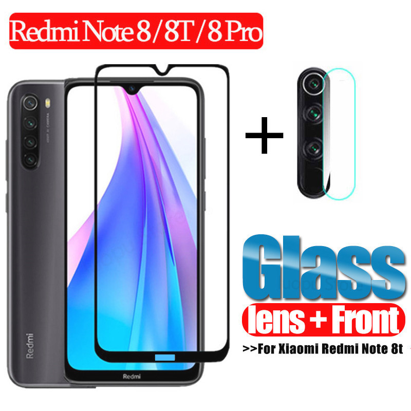 2-In-1 Glass Screen-Protector Camera-Lens Protective-Glass Note-8t Xiaomi Redmi for 8-T title=