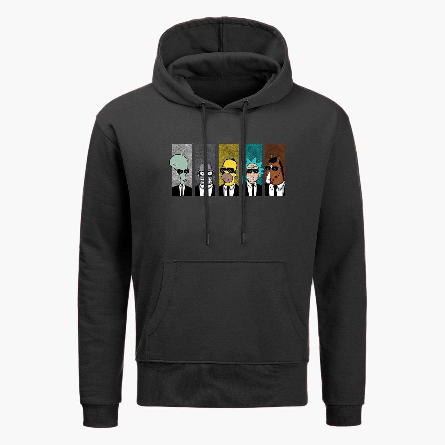 Rick And Morty Anime Hoodie Cool TV Tee Men Hoodies Couple Geek BoJack Horseman Hoodie Men Boyfriend