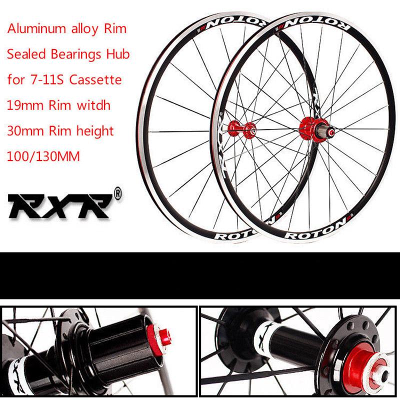 Road Bike 700C Bearing Wheels 7-11 Speed V Brake Clincher Front Rear Wheelsets (6)