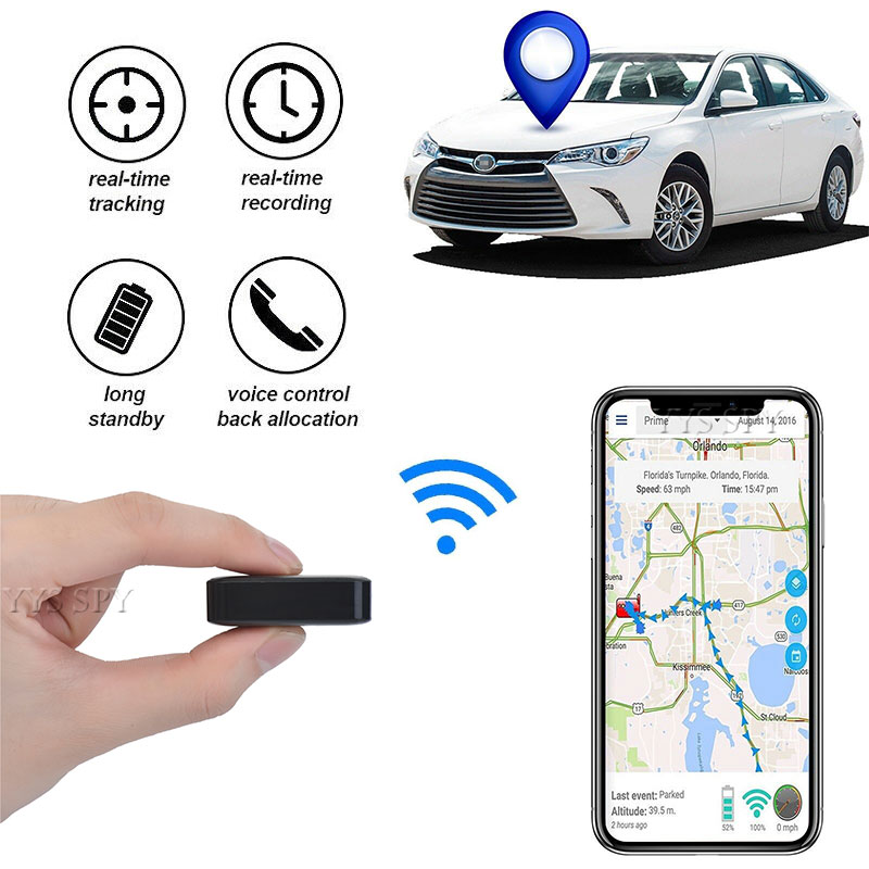 Magnetic Micro Tracker GPS Car Real Time Tracking Locator Voice Recorder Device