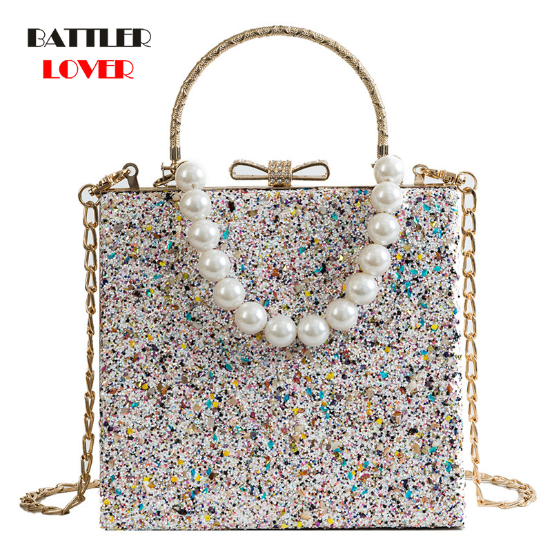 Metal Beading Women Tote Bags Baroque Angel Mini Handbags Luxury PU Leather Shoulder Bag Vintage Chains Messenger Bag Sac A Main
