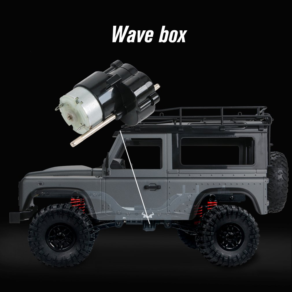 Car - 2.4G Four-wheel Drive Climbing Vehicle 4WD Rechargeable Battery Crawler 1/12 LED Lights Vehicle Off Road RC Car