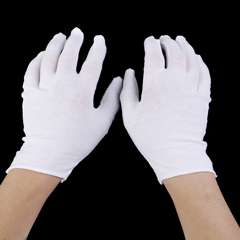 6 Pairs/lot Women Men Household Gloves Coin Jewelry Lightweight Gloves Serving/Waiters/drivers Cotton Inspection Work Gloves