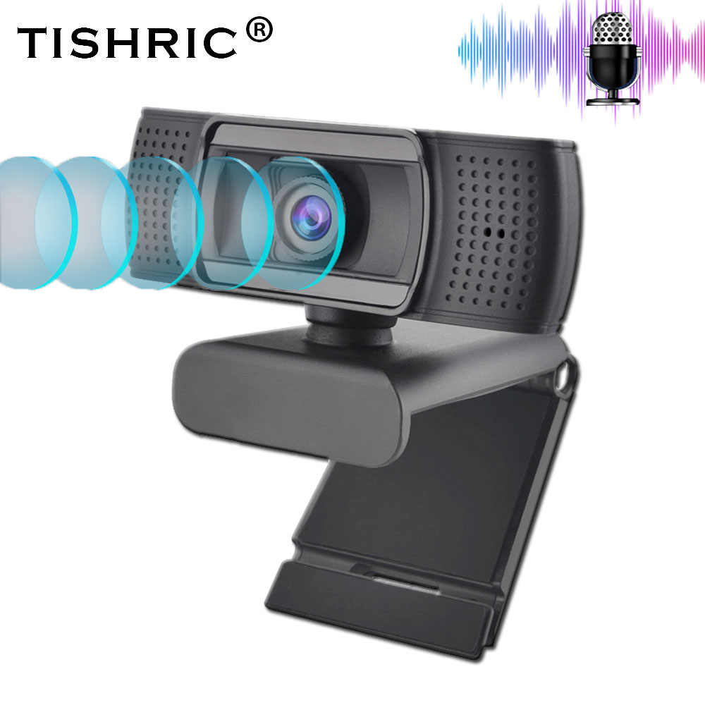 TISHRIC USB 2,0 веб-камера Full HD 1080P Ashu H601 веб-камера для записи видео с микрофоном для ПК ноутбука, не веб-камера с автофокусом