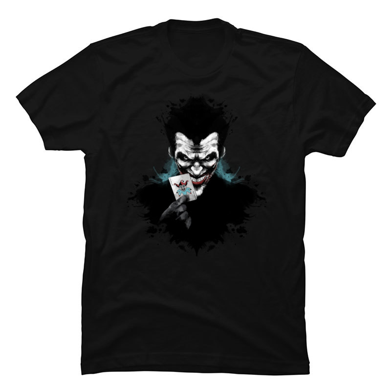 Joker_Ink_963 Crewneck T Shirts Summer/Autumn Tops Tees Short Sleeve Cute 100% Cotton Funny T-shirts Party Mens Joker_Ink_963 black