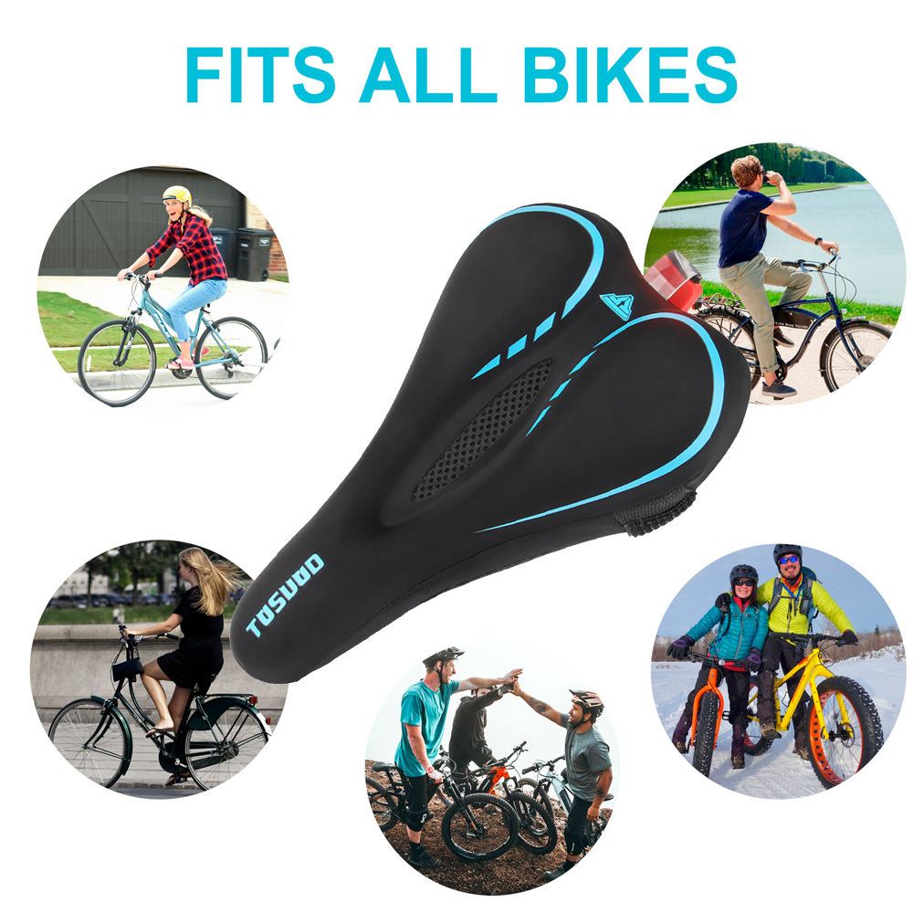 Transportation - Bike Saddle Cover, Soft Silicone Padded, Comfort Breathable Bicycle Seat Cover - for Mountain Road Bike Outdoor Cycling