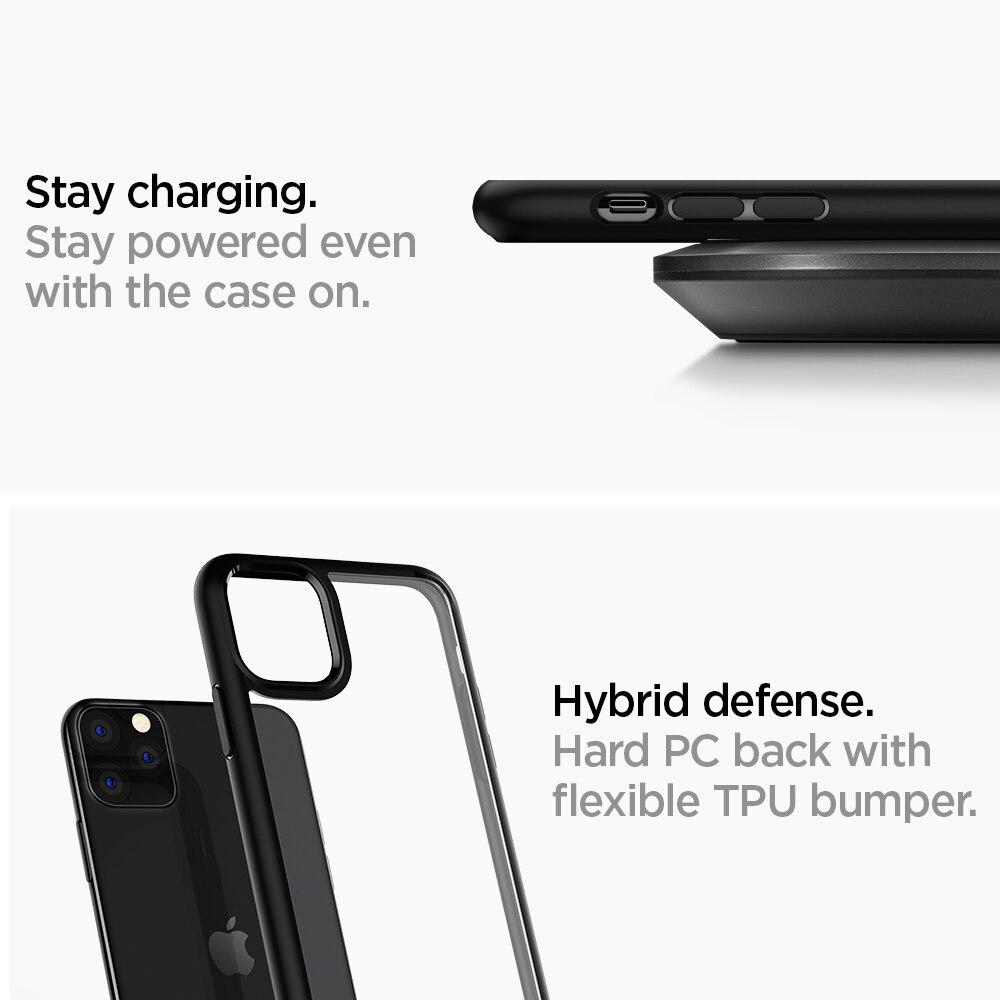 Spigen Coque iPhone 11 Pro Max [Ultra Hybrid] Bumper Renforcé Anti