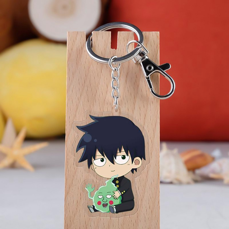 Mob Psycho 100 Cosplay Keychain Shigeo Kageyama Key Chain Ritsu-kun Icon Collection Key Rings For Bag