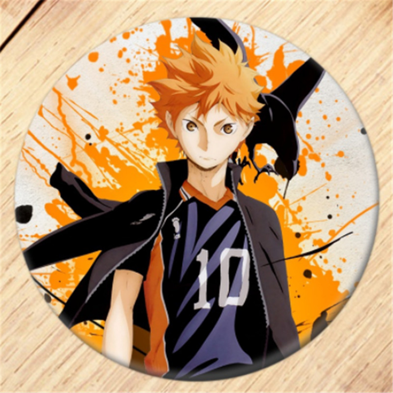 Fuguan Haikyuu Button Pin Badge Anime Brooch Pin Cosplay Costume Accessories for Clothes Backpack Gift for Anime Fans