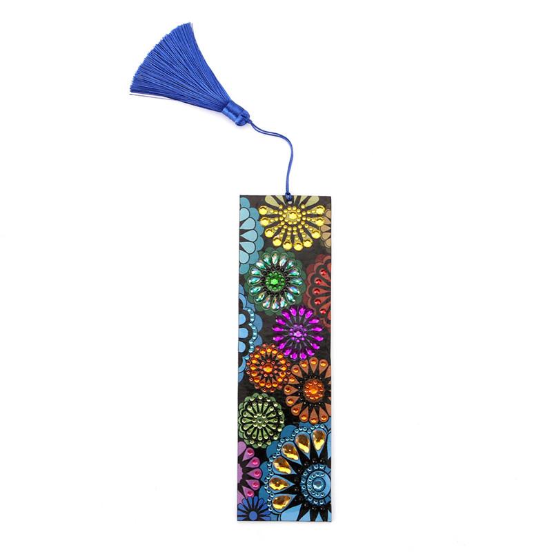 Marcador De Pintura De Cuero Mariposa 5D Diamante Libro marcas Hágalo usted mismo Craft Con Borla