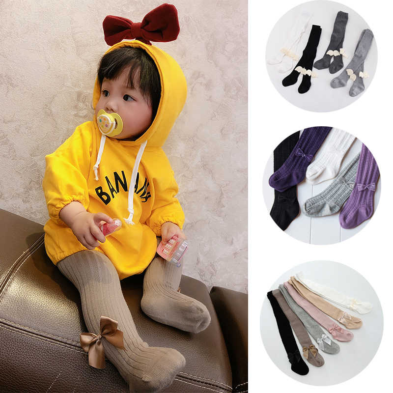 Baby Toddler Girls Cotton Knee High Socks Tights Leg Warmer Stocking For 0-3Y RS