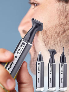 Shaver Hair-Trimmer Nose Eyebrows Electric Rechargeable Women Painless Ear 4-In-1 Sideburns