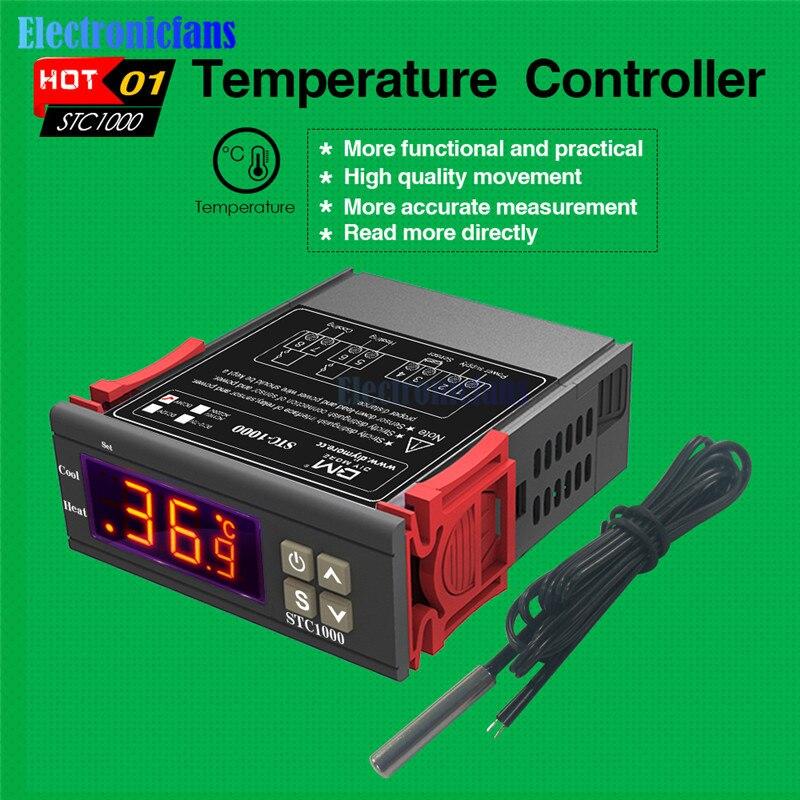 110-220V STC-1000 Temperature Controller Temp Sensor Thermostat Control Digital