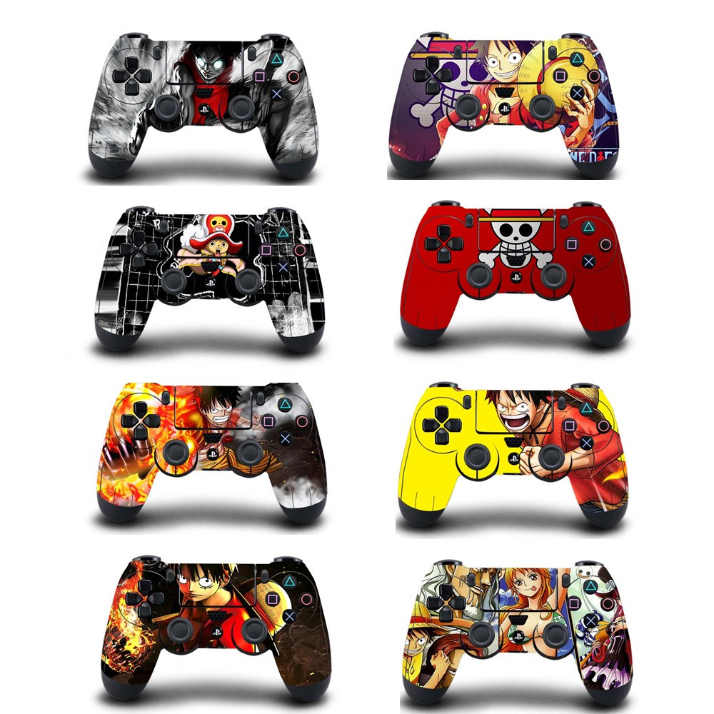 Decal Controller Sticker Playstation One-Piece Anime Ps4 Slim 4-Game 4-Dualshouck Sony title=