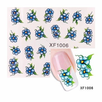 ZKO 1 Sheet Water Transfer Nail Art Sticker Decal Foil Adhesive Nails Tips Flower Design Decoration Makeup Tools For Nails
