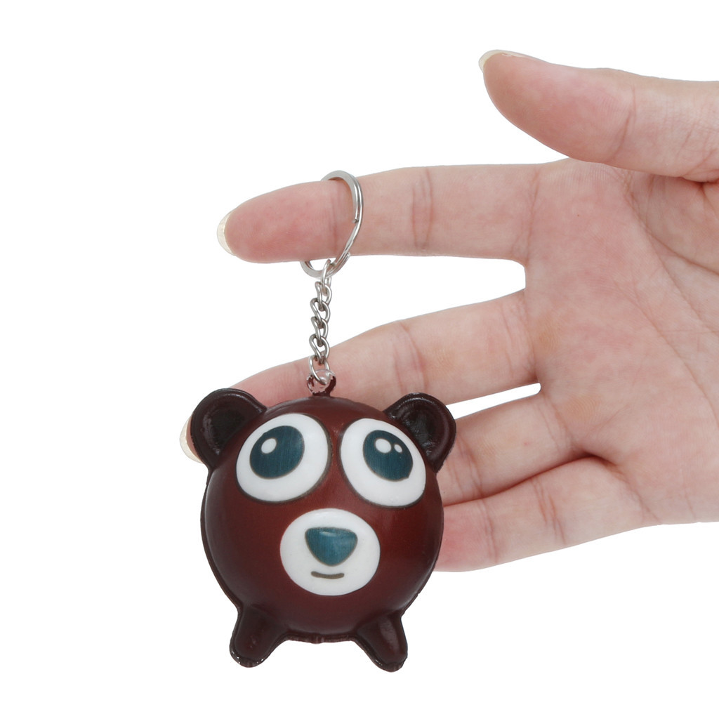 mini Cartoon Animal Slow Rising Keychain Stress Relief Toys Simulation of slow rebound birthday gift Colorful Creative Gift #A