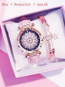 Bracelet Watch Clock Quartz Starry-Sky Casual Ladies Relogio Feminino