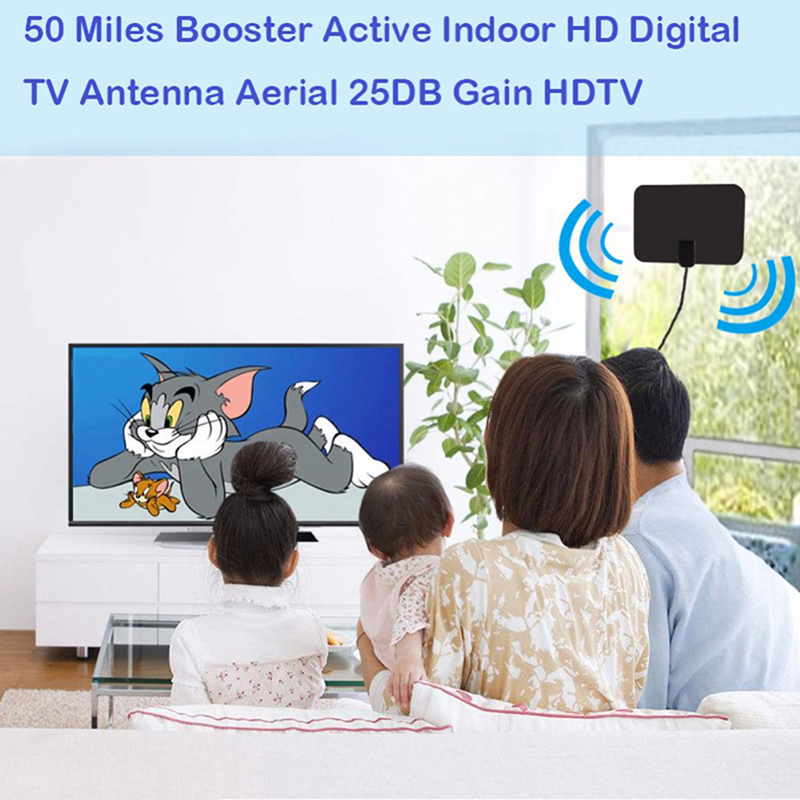 Amplified HD Antenna Free Channels Cut Cable Live TV OTA Wave Antenna HDTV S!