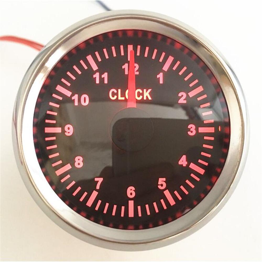 """12v 24v 32v Hour Meter for Marine Engine 52mm 2/"""" Round Gauge Black Black"""