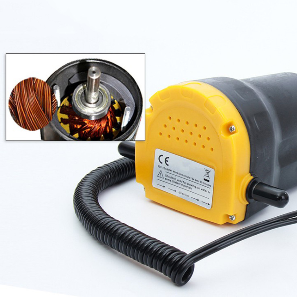 2020 12V 60W olej/olej surowy płyn Sump Extractor Scavenge wymiana pompa transferowa pompa ssąca + rury dla Auto Car Boat -