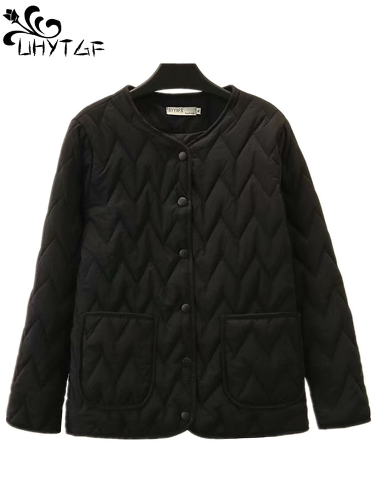 UHYTGF Coat Female Jacket Parka Light Short Korean Plus-Size Women Winter Fashion Woman thumbnail