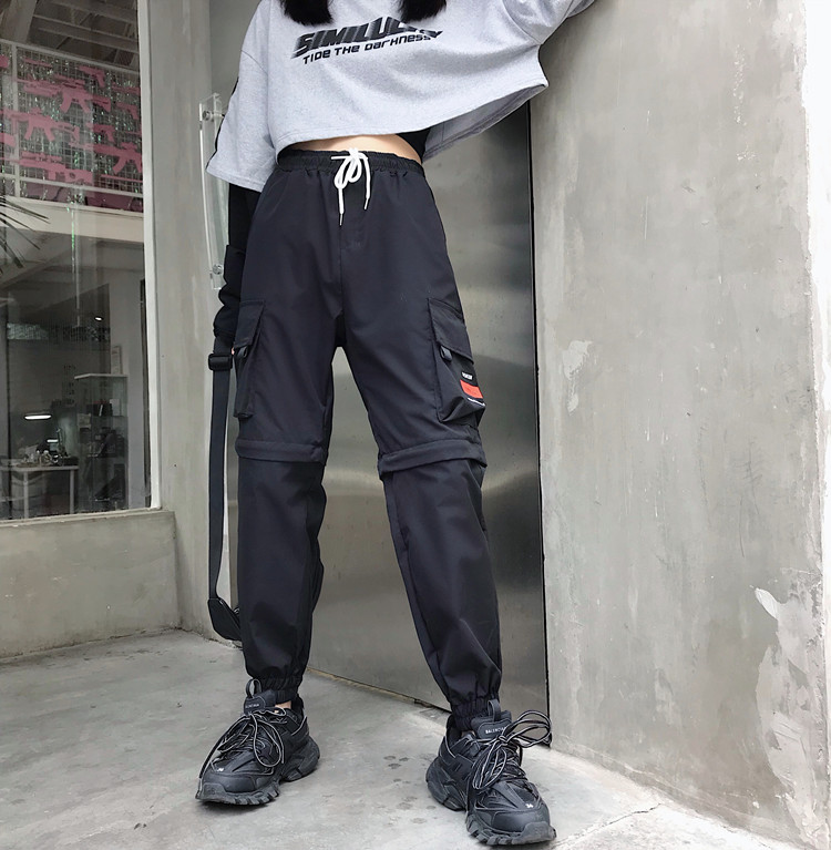 Hot Big Pockets Cargo pants women High Waist Loose Streetwear pants Baggy Tactical Trouser hip hop high quality joggers pants 29