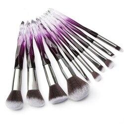 MAANGE 5/10 Pcs Diamond Makeup Brush Set Professional Cosmetic Powder Foundation Eyebrow Eye Shadow Lip Blush Makeup Brushes Kit