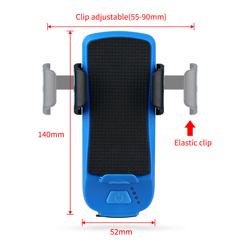 Cushion - 4 In 1 Bike Light Phone Holder Handlebar Stand with Power Bank Bicycle Lamp Bicycle Set USB Rechargeable Rear Light