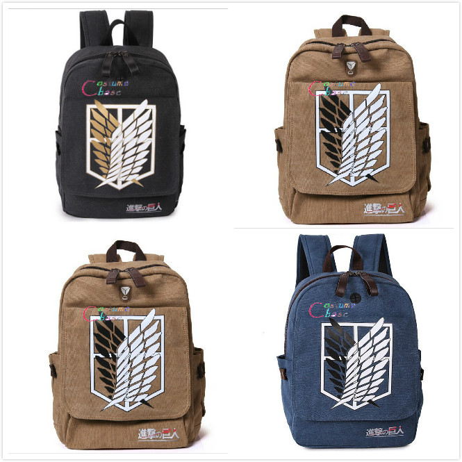 Anime Fairy Tail Canvas Backpack Shoulder School Bag Student Cosplay Prop Gift