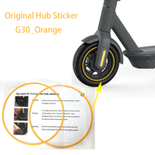 Hub-Sticker Ninebot-Max Original Tire-Guard-Line Wheel Orange for G30/Orange/Wheel/..