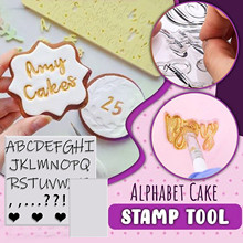 Cake-Tools Stamp Fondant-Cutter Letter Alphabet Sticky-Decorating Embosser Easy-Use New