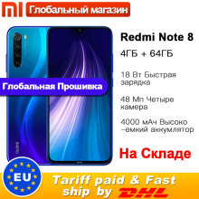 Xiaomi Redmi Note-8 4GB 64GB Adaptive Fast Charge Fingerprint Recognition 48MP New Smartphone