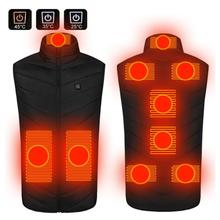 Heating-Vest Heated-Jacket Thermal-Clothing Plus-Size Men Women Usb 9-Zones S-6XL