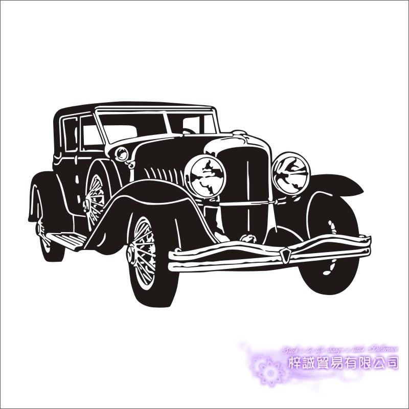 Car Sticker Vehicle Decal Classic Cars Posters Vinyl Wall Decals Pegatina Quadro Parede Decor Mural Car Sticker