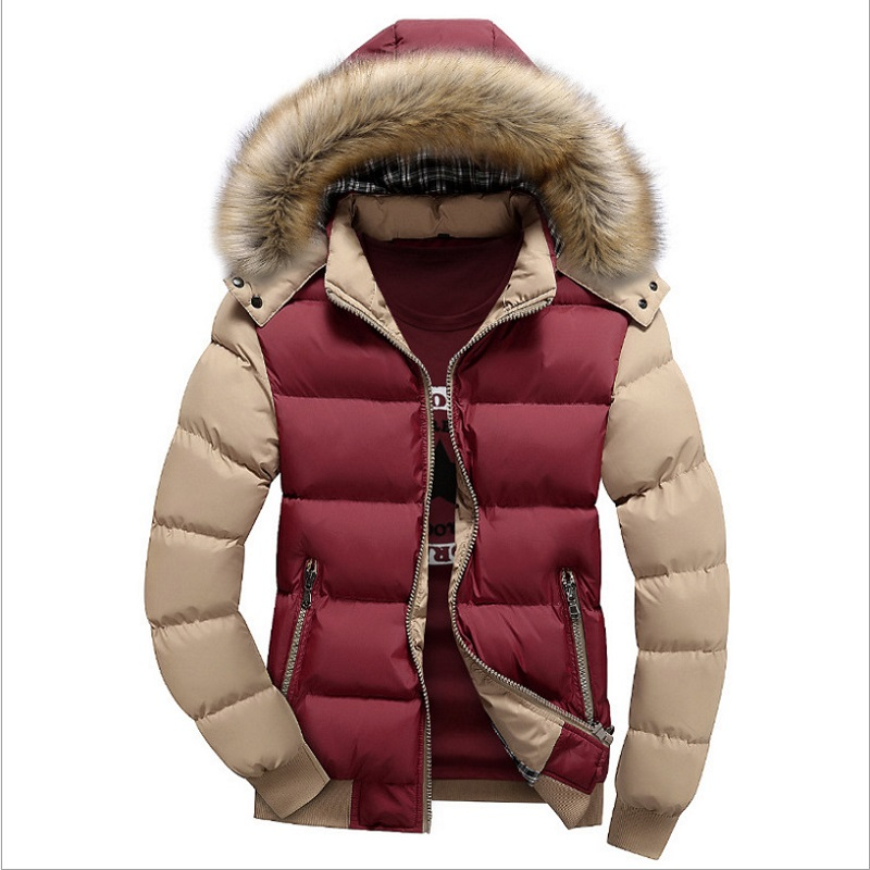 Men/'s Winter Jackets 7XL Thick Hooded Fur Collar Parka Men Coats Casual Padded Mens Jackets Male 9 Colors 5XL 6XL Clothing 2020