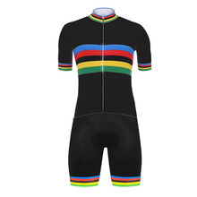 Clothing Cycling-Jersey-Set Road-Bike-Suit World-Champion Race Shorts Bicycle-Bib MTB