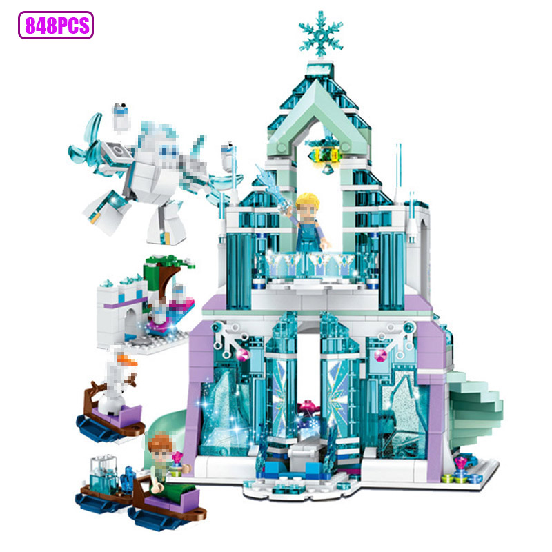 848pcs frozen castle