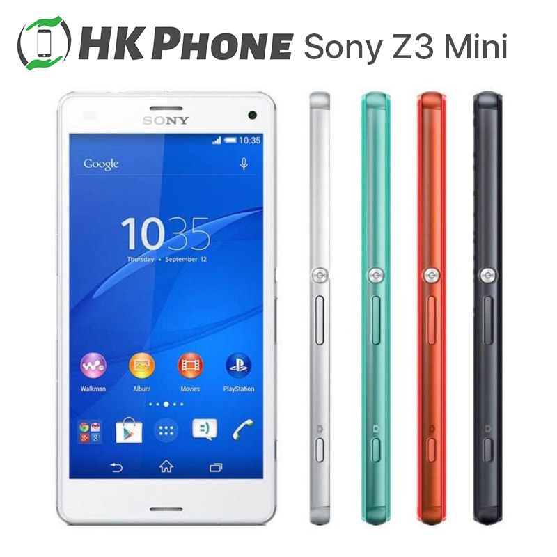 Sony Z3 Compact Xperia Mini 16GB 2GB NFC Quad Core 20mp Refurbished Mobile-Phone D5803 title=