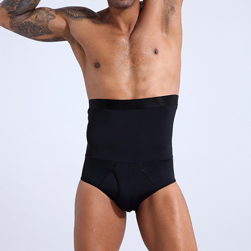 Man Shaper High Waist Briefs Slimming Shapewear Breathable Stretchy for Sports FS99
