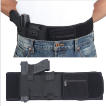 110cm Pistol Glock Holster Elastic Belly Band Waist Gun Holster for Left or Right Hand