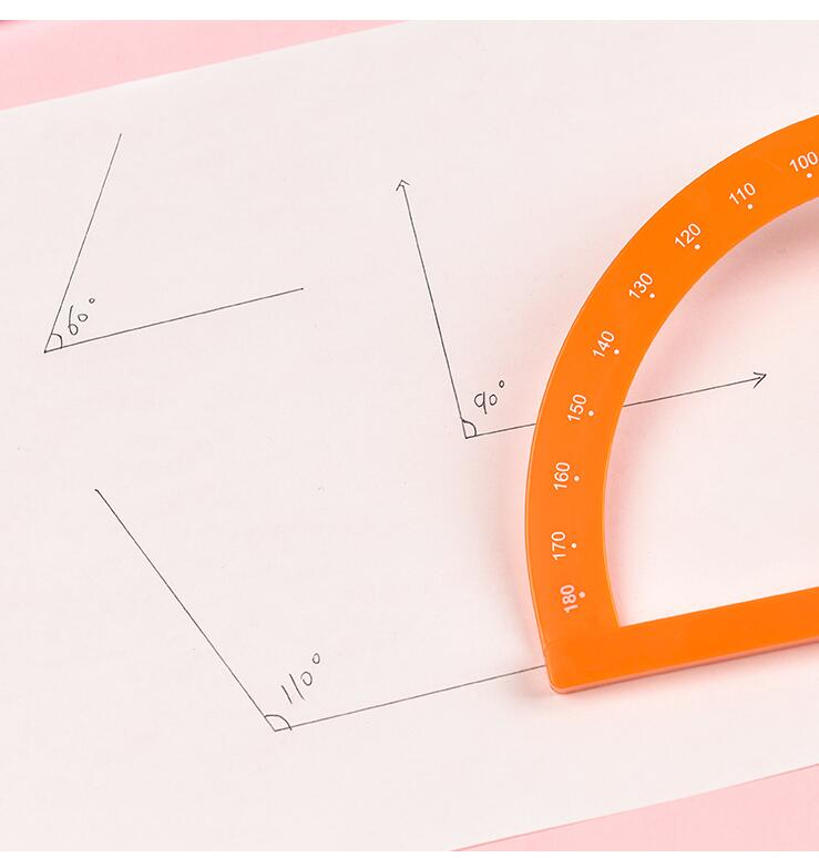 kexinda Winkelmesser Halbkreis Kunststoff Winkel Lineal Math Zeichnung Messwerkzeug f/ür Kid Sch/üler-Lehrer
