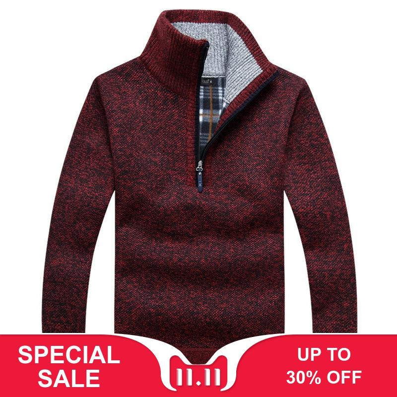Men/'s Warm Polar Fleece Half Zip-Up Collared Lightweight Pullover Sweater