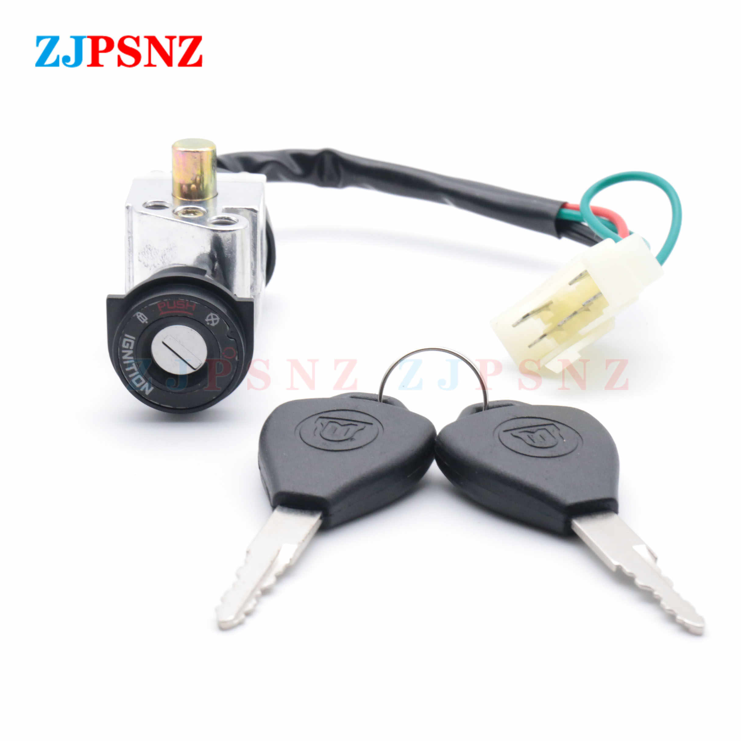 Universal Motorcycle Switch Key Faucet Lock Head Lock Electric Door Lock 5 Wires For GY6 CG125 Motorcycle ATV Scooters Ignition