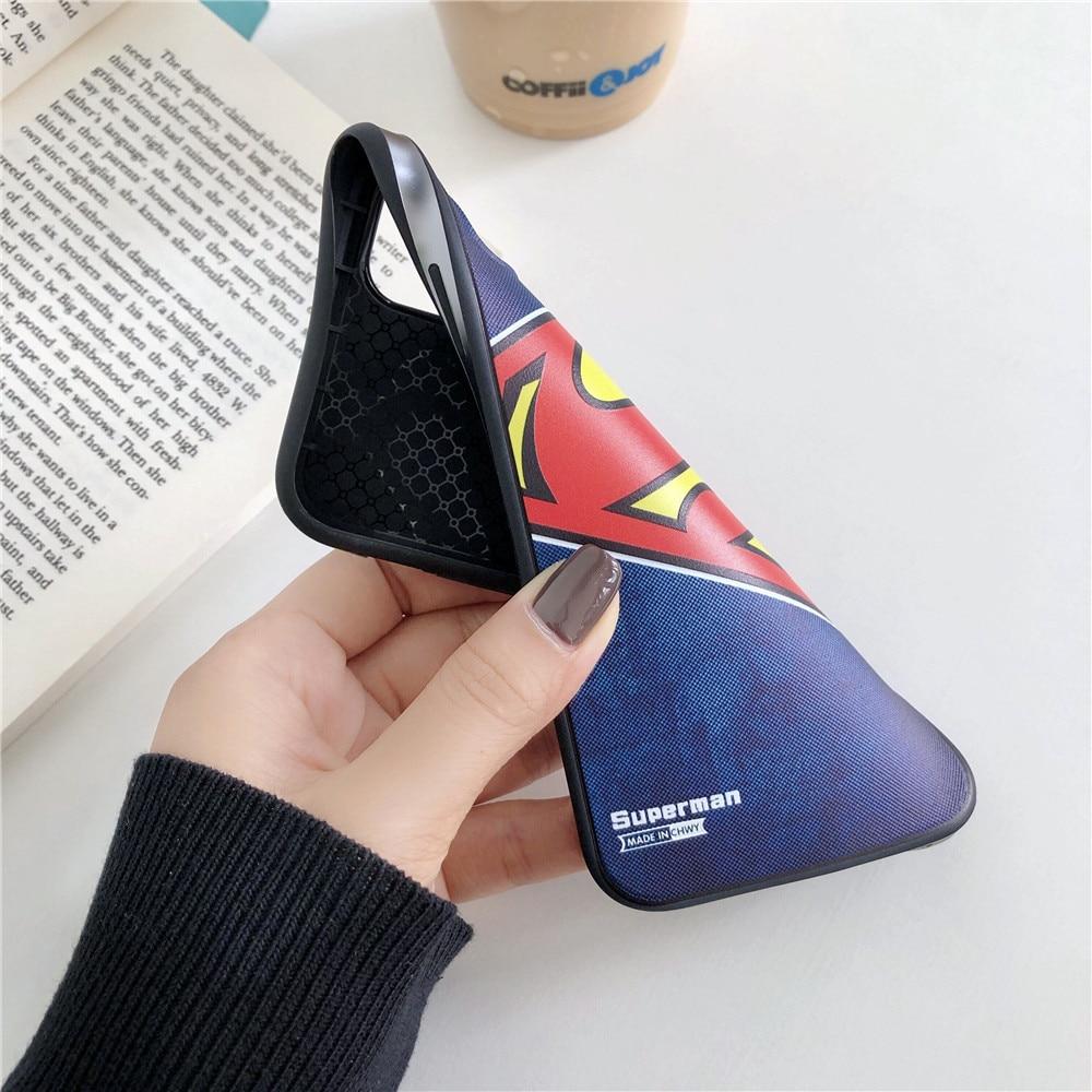 3D Relief Marvel Avengers iron Man Spiderman cuir téléphone étui ...