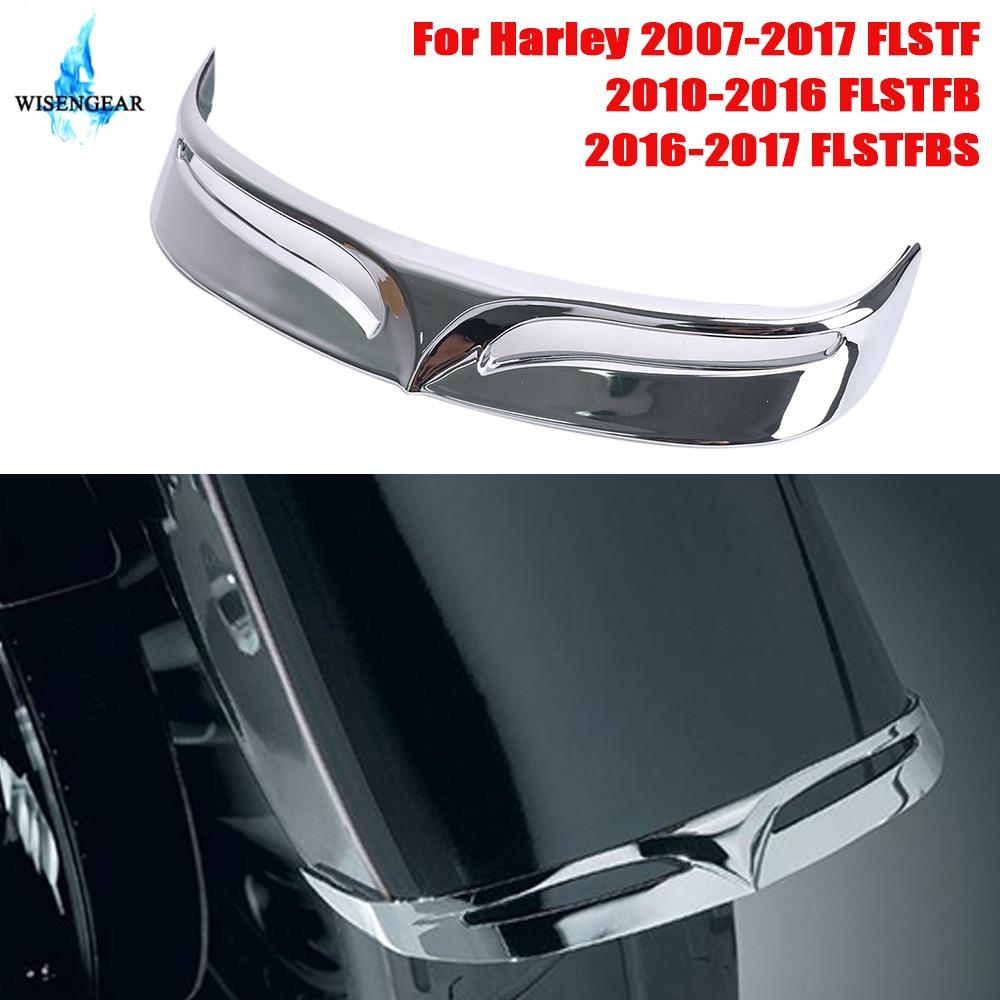 For Harley Softail FLSTF Fat Boy Rear Trailing Edge Fender Tip Trim Cover Chrome Rear Mudguard Decoration 2007-2016