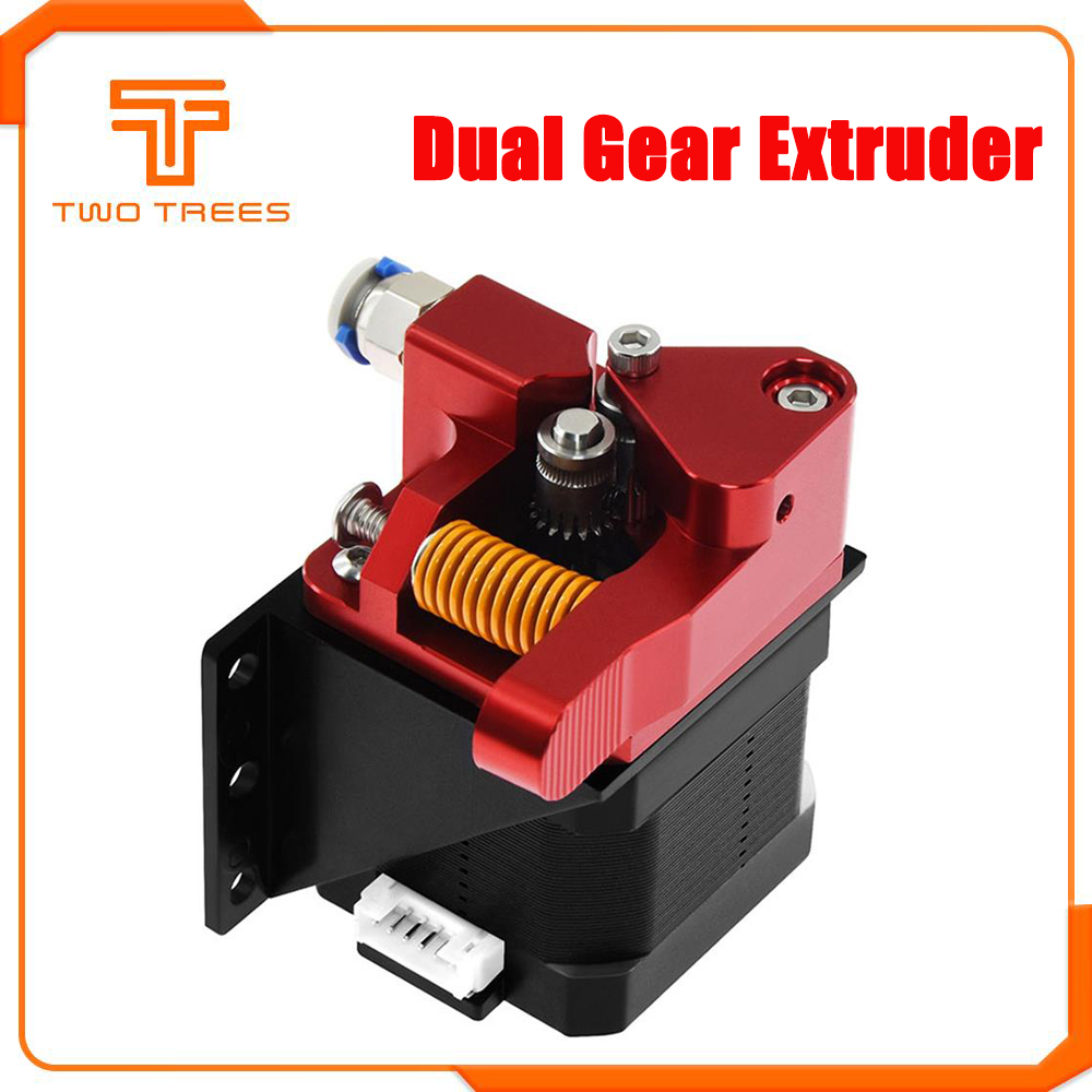 Mk8 Extruder Drive-Feed 3d-Parts Double-Pulley Reprap Aluminum-Upgrade Dual-Gear Cr-10s pro title=
