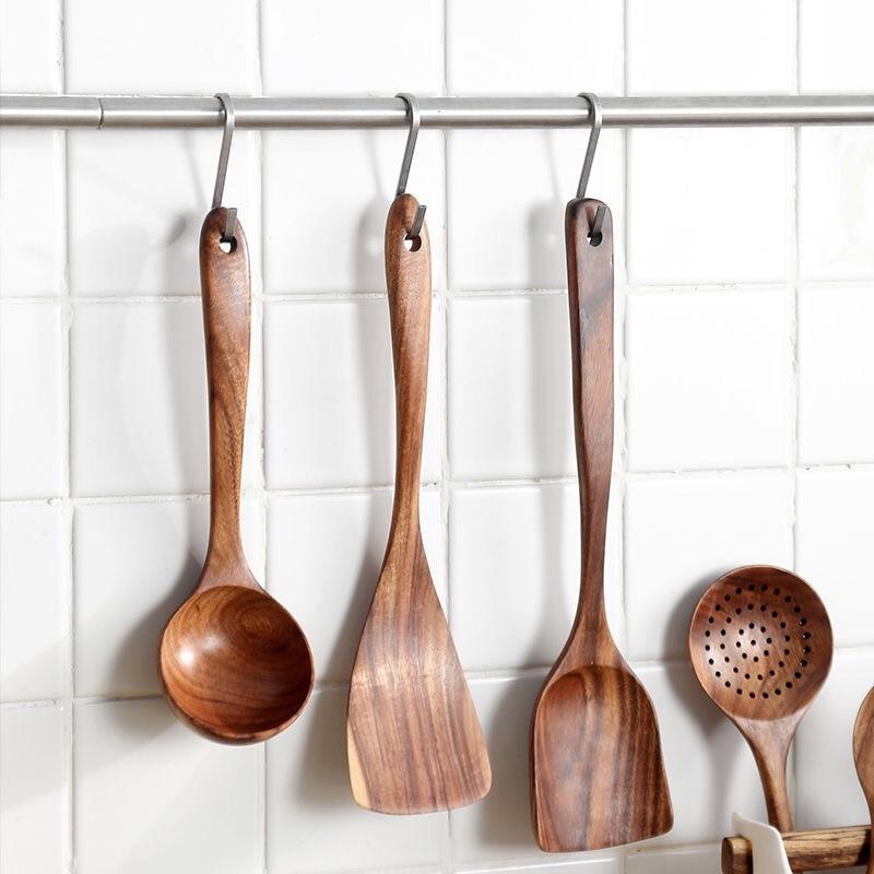 Nouveau en Bois Palissandre Indien cuillères Spatule cuisine cuisson en bois ustensiles de cuisine outil