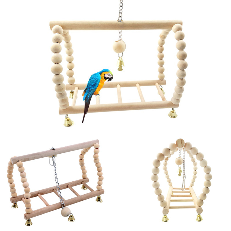 UEETEK Bird Swings Ladder Bird Toy Pet Bird Cage Hammock Bridge Swings Hanging Toy