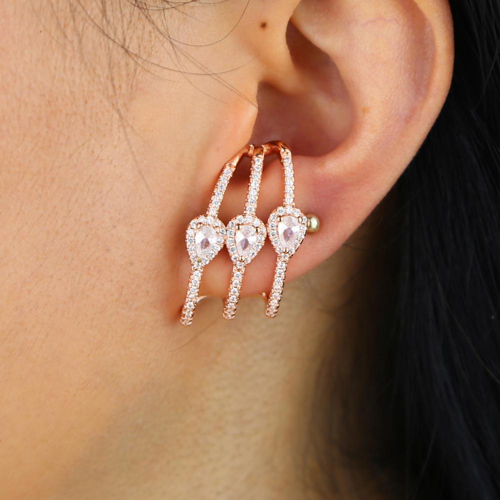 brass cz earring Y (13)