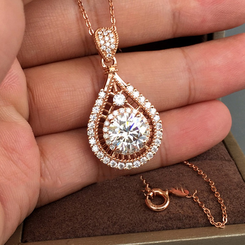 Vintage Water Drop Necklace for Women Chain Wedding/Party Necklace Valentine